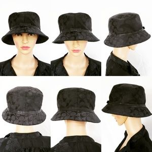 Coach Black Bucket Hat